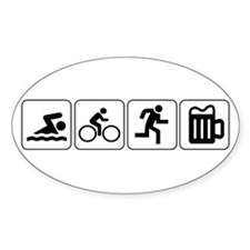 Swim Bike Run Drink Decal