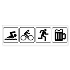 Swim Bike Run Drink Bumper Sticker