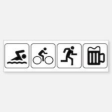 Swim Bike Run Drink Car Car Sticker