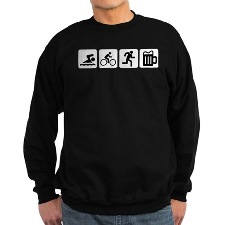 Swim Bike Run Drink Sweatshirt (dark)