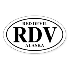 Red Devil Oval Decal