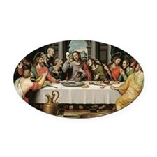 The Last Supper Oval Car Magnet