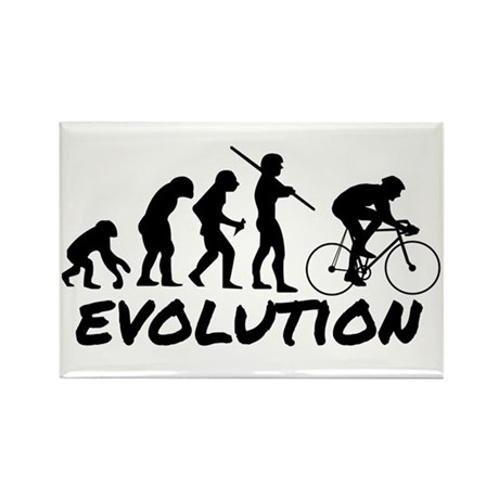 Bicycle Evolution Rectangle Magnet