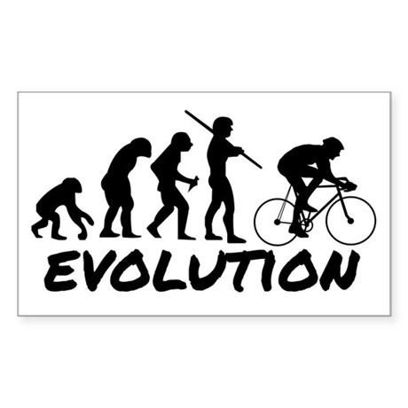 Bicycle Evolution Sticker (Rectangle)