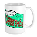 Retro Christmas Large Mug