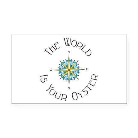 The World Is Your Oyster Rectangle Car Magnet