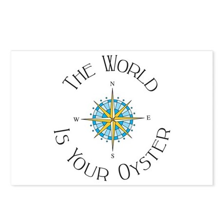 The World Is Your Oyster Postcards (Package of 8)