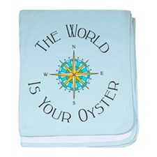The World Is Your Oyster baby blanket