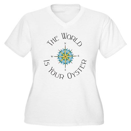 The World Is Your Oyster Plus Size T-Shirt