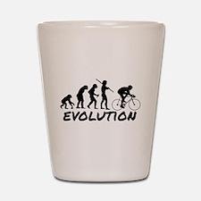 Bicycle Evolution Shot Glass