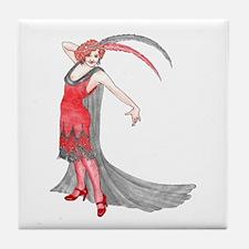 Scarlet Flapper Tile Coaster