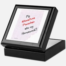Min Pin Homework Keepsake Box