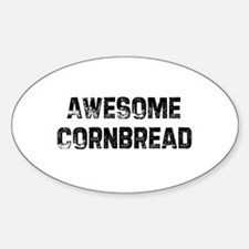 Awesome Cornbread Oval Decal