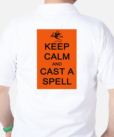 Keep Calm and Cast a Spell Golf Shirt