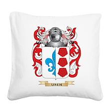 Uren Family Crest (Coat of Arms) Square Canvas Pil