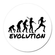 Runner Evolution Round Car Magnet