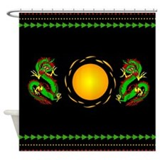 Green Dragons Shower Curtain