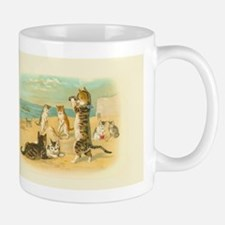Cute Vintage Cats on the Beach Mugs