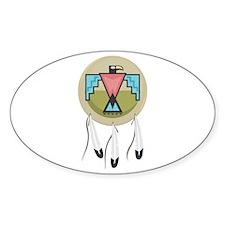 Native Thunderbird Shield Oval Decal