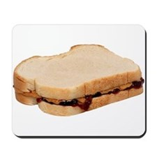 Peanut Butter and Jelly Sandwich Mousepad
