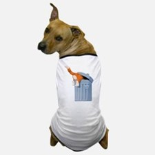 Cat in Trash Can Dog T-Shirt