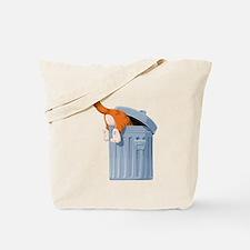 Cat in Trash Can Tote Bag