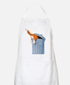 Cat in Trash Can Apron