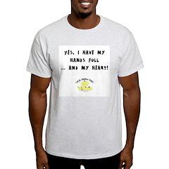 Full hands, full heart Ash Grey T-Shirt