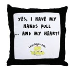 Full hands, full heart Throw Pillow
