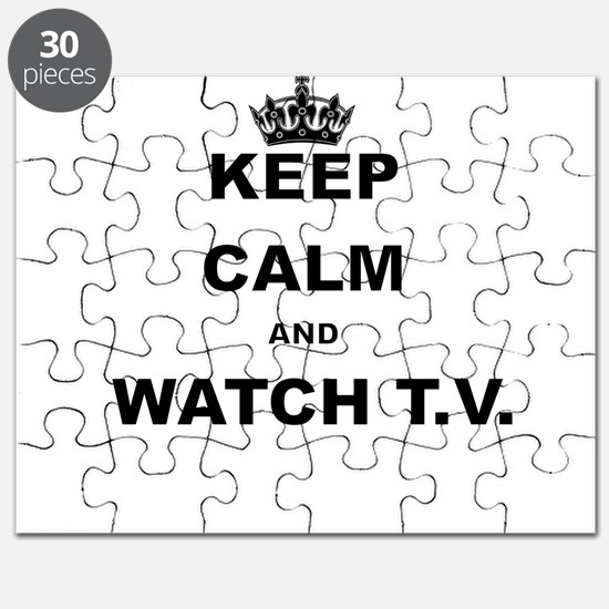 KEEP CALM AND WATCH TV Puzzle
