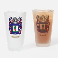 Valente Family Crest (Coat of Arms) Drinking Glass