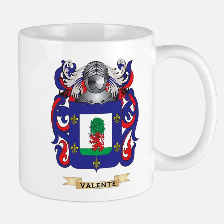 Valente Family Crest (Coat of Arms) Mugs