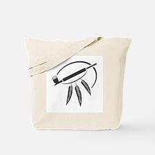 Indian Peace Pipe Tote Bag