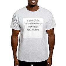 Respectfully decline Ash Grey T-Shirt