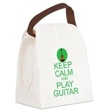 Keep Calm Play Guitar (Acoustic) Canvas Lunch Bag