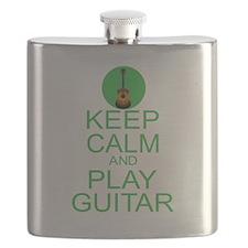 Keep Calm Play Guitar (Acoustic) Flask