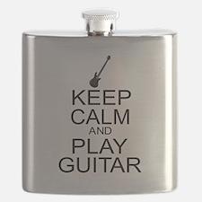 Keep Calm Play Guitar (Electric) Flask