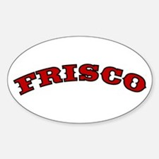FRISCO ARCH Oval Decal