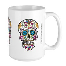 SugarSkull Halloween White Mugs