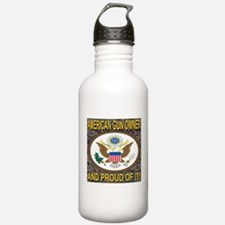 American Gun Owner And Proud Of It! Water Bottle