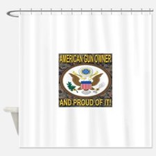 American Gun Owner And Proud Of It! Shower Curtain
