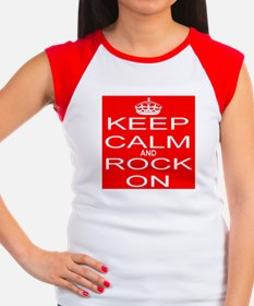 KEEP CALM and ROCK ON Women's Cap Sleeve T-Shirt