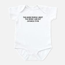 Japanese Chin: people I meet Infant Bodysuit