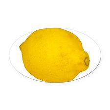 Lemon Oval Car Magnet