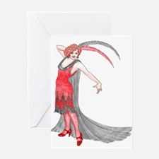 Scarlet Flapper Greeting Cards