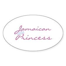 Jamaican Princess Oval Decal