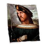 Cesare Borgia Burlap Throw Pillow