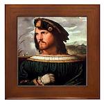 Cesare Borgia Framed Tile