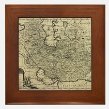 Persia Ancient Map 1747 Framed Tile