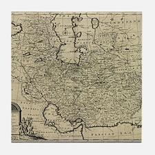 Persia Ancient Map 1747 Tile Coaster